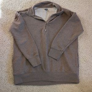 Tan aerie half zip sweatshirt